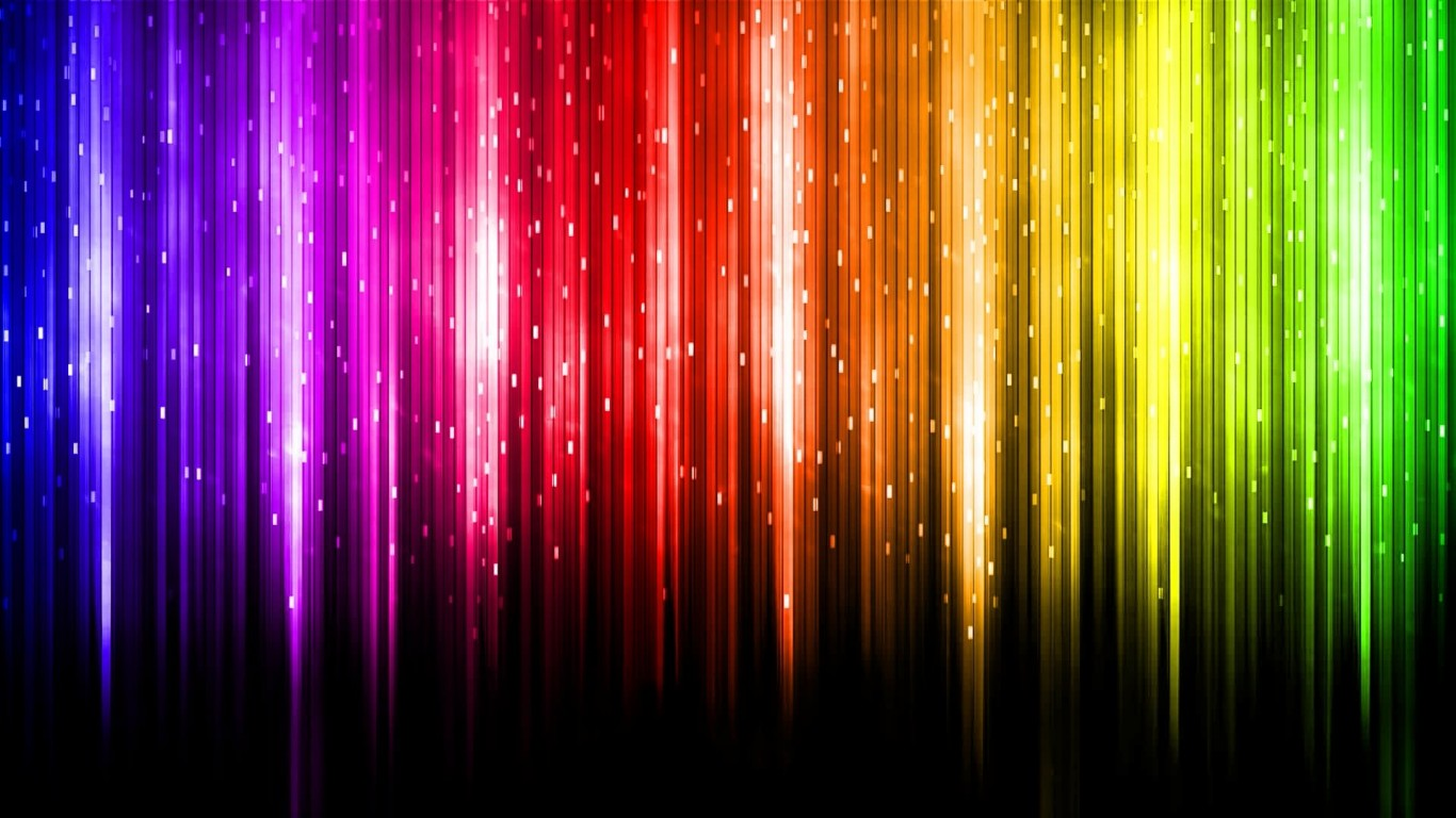 3d Colourful Rainbow Abstract Wallpaper 1366x768 Hd