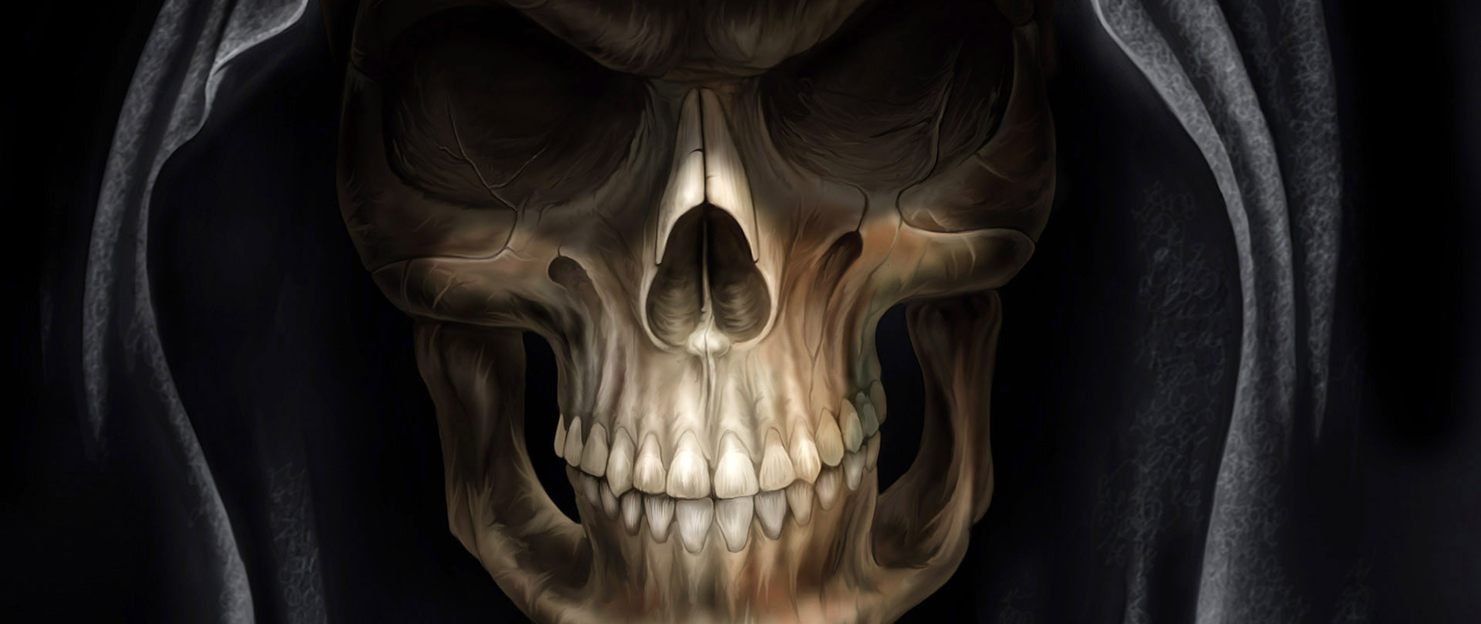3d Free Skull Design Hd Wallpaper For Desktop And Mobiles 4k