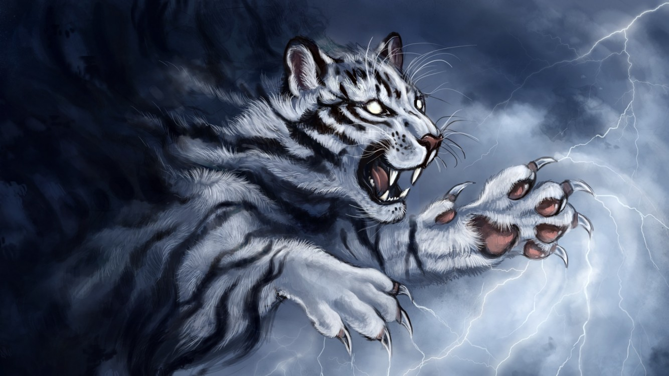 Animated tiger HD Wallpaper iPhone 7