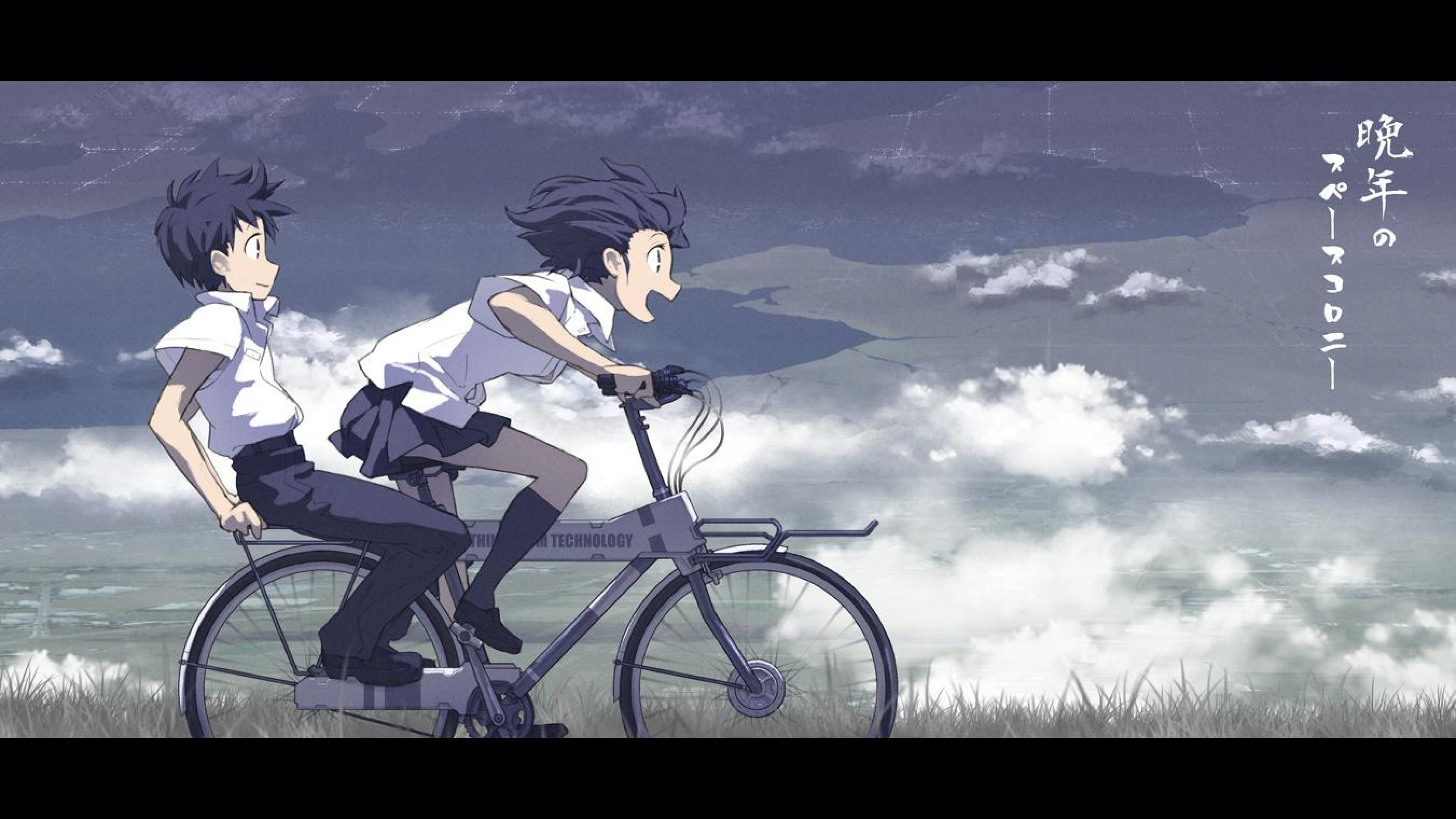 Anime Boys Riding A Bicycle Hd Wallpaper 4k Ultra Hd Hd Wallpaper Wallpapers Net