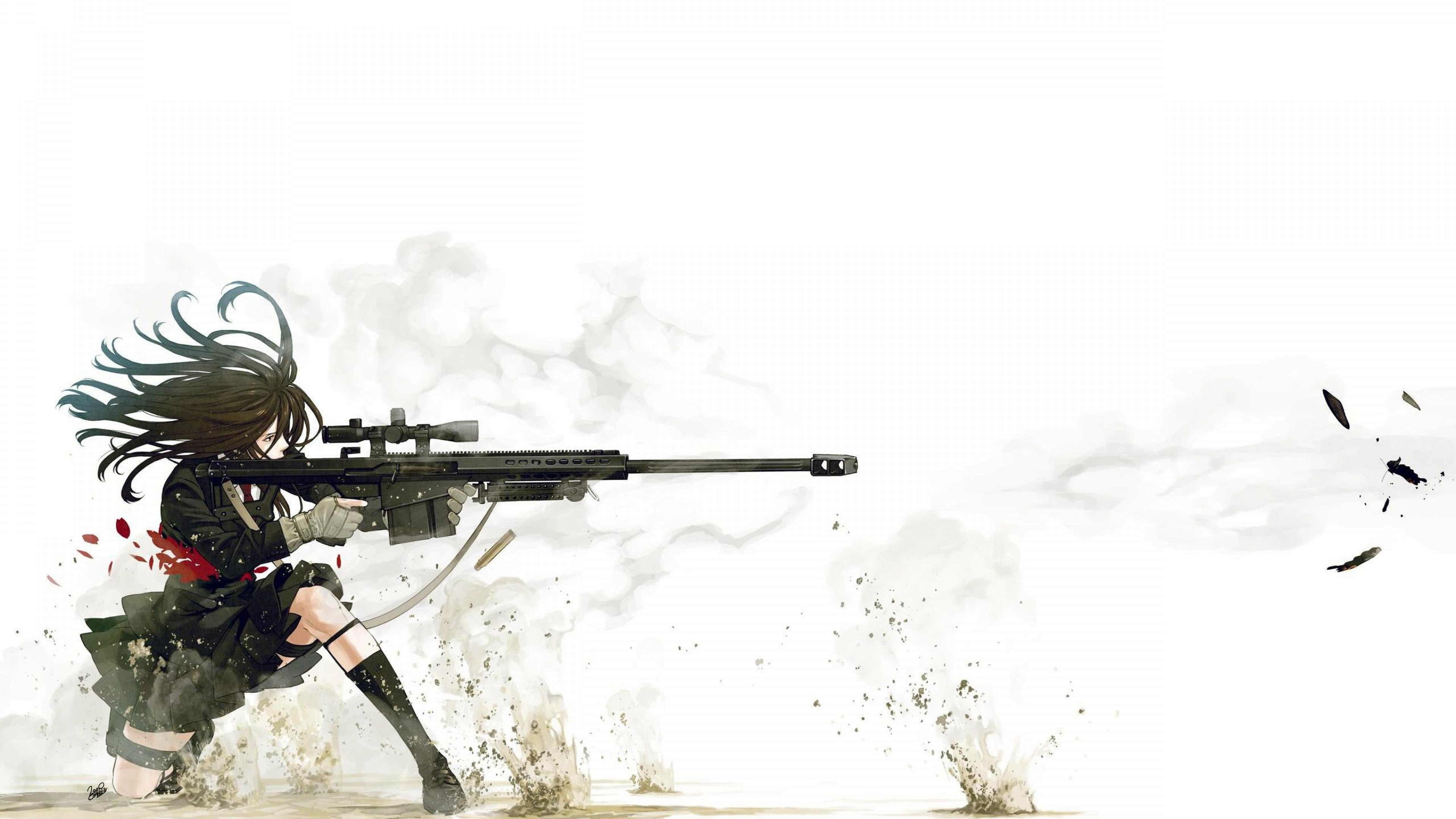 Anime Sniper Wallpaper For Desktop And Mobiles 4k Ultra Hd