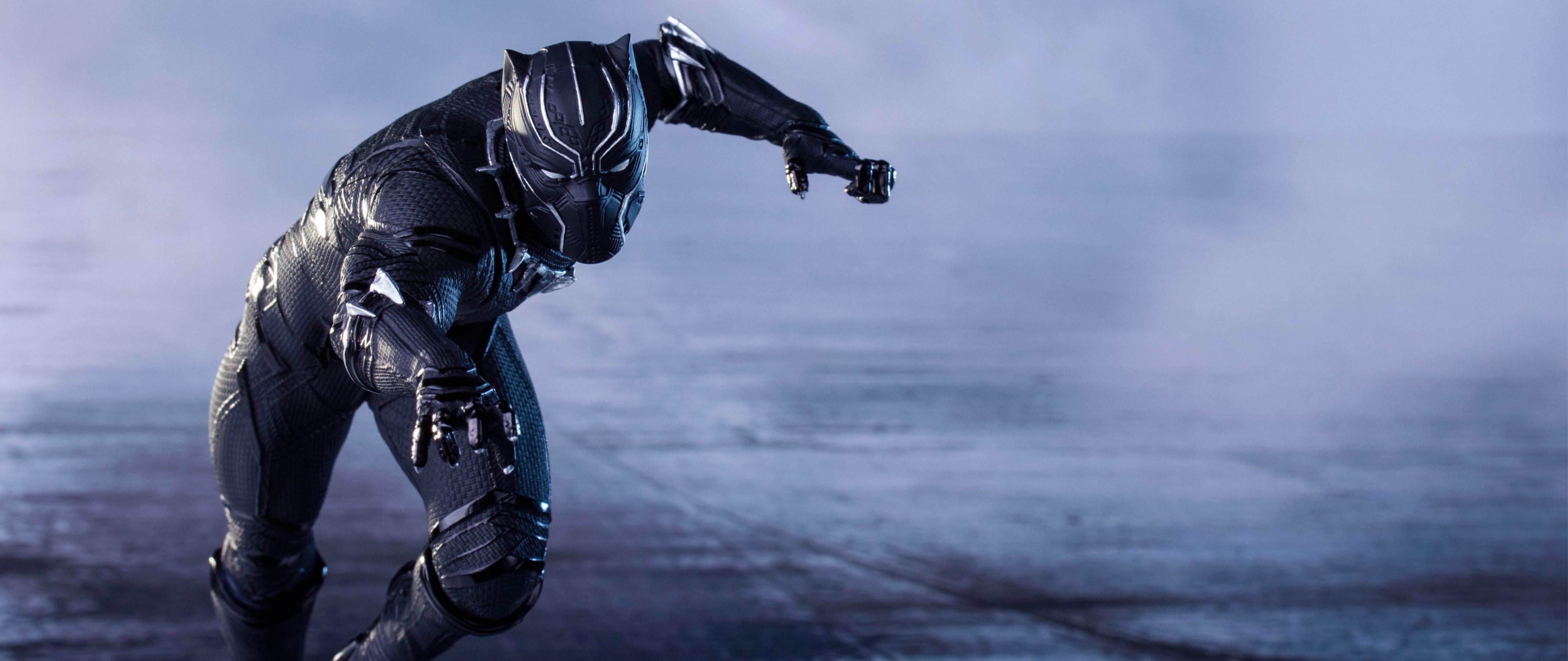 Captain America Civil War Black Panther Hd Wallpaper For