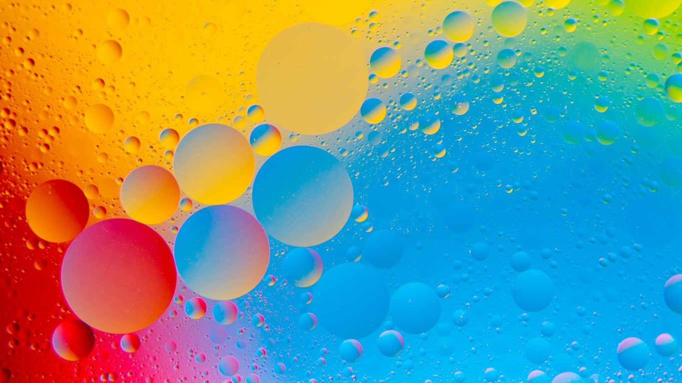 Colourful Bubbles 4K HD Abstract Wallpaper - 1366x768