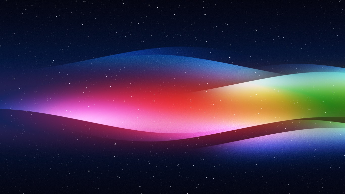 Colourful Spectrum 4K HD Wallpaper 1366x768