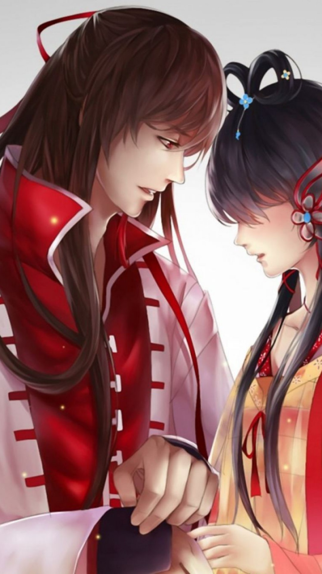 Cute Anime Couple Beautiful Hd Wallpaper For Desktop And