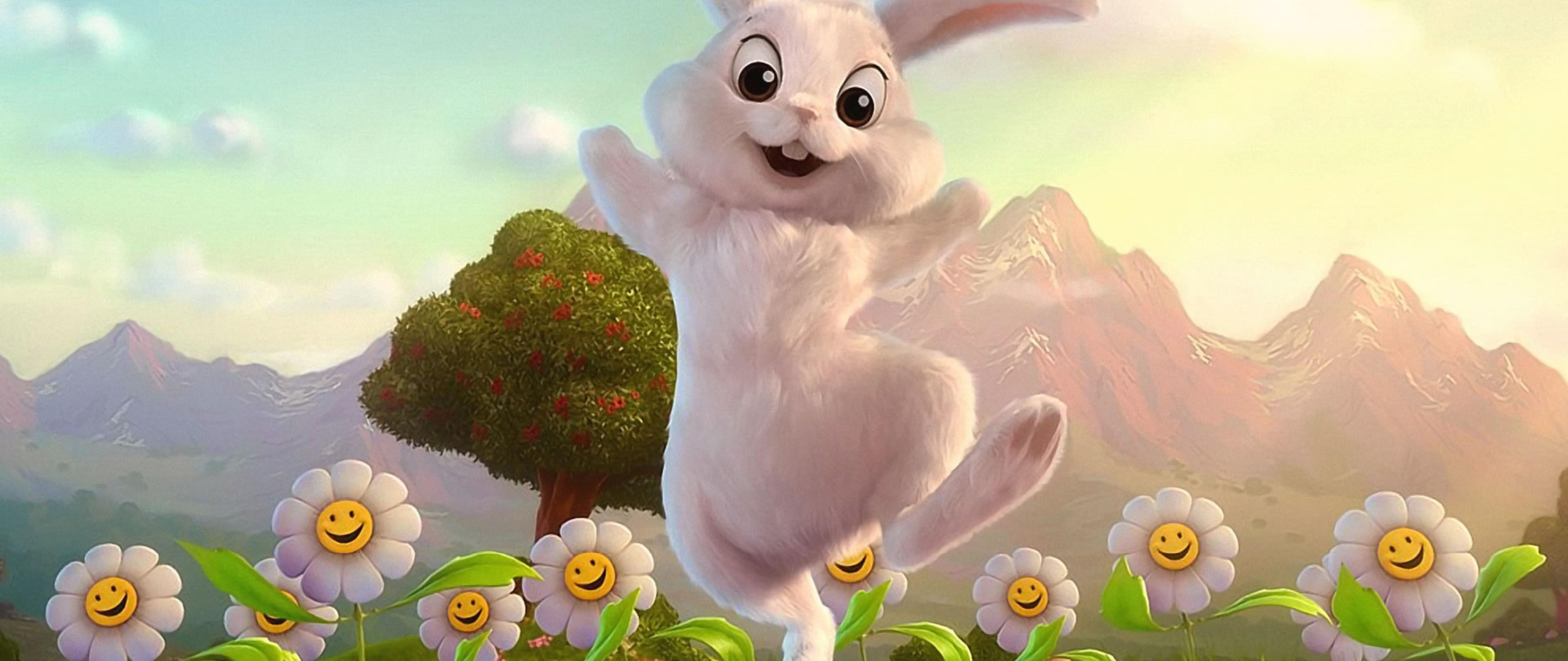Cute Bugs Bunny White Rabbit Cartoon Wallpaper For Desktop And