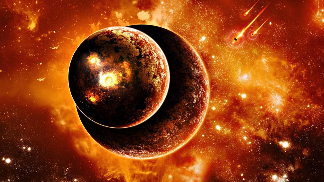 Download Burning Planets Live Wallpaper