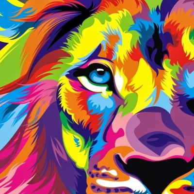 Download Full HD Colourful Lion Artwork Wallpaper Instagram Profile