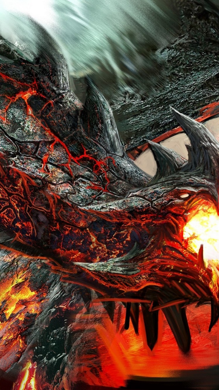 Dragon Shooting Fire Hd Wallpaper Iphone 6 6s Hd