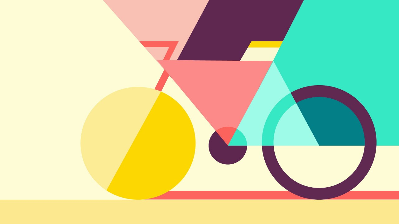 Full HD 3D & Colorful Geometric Cycling Wallpaper