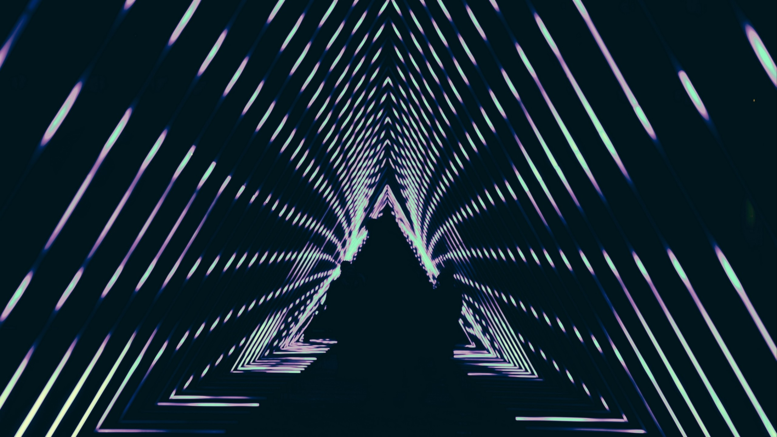 Geometric lines at the dark HD Wallpaper Youtube Cover Photo
