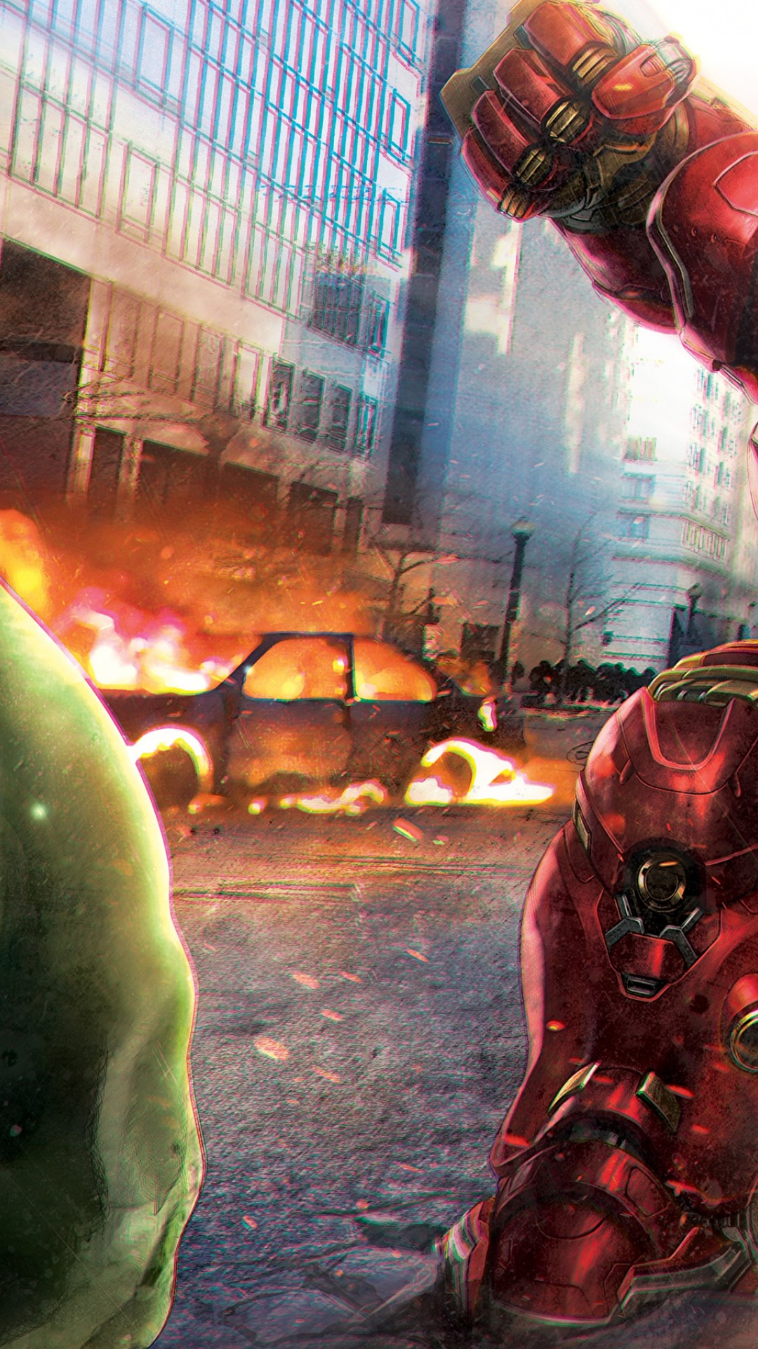 Hulk Vs Hulkbuster Hd Wallpaper For Desktop And Mobiles Iphone 6