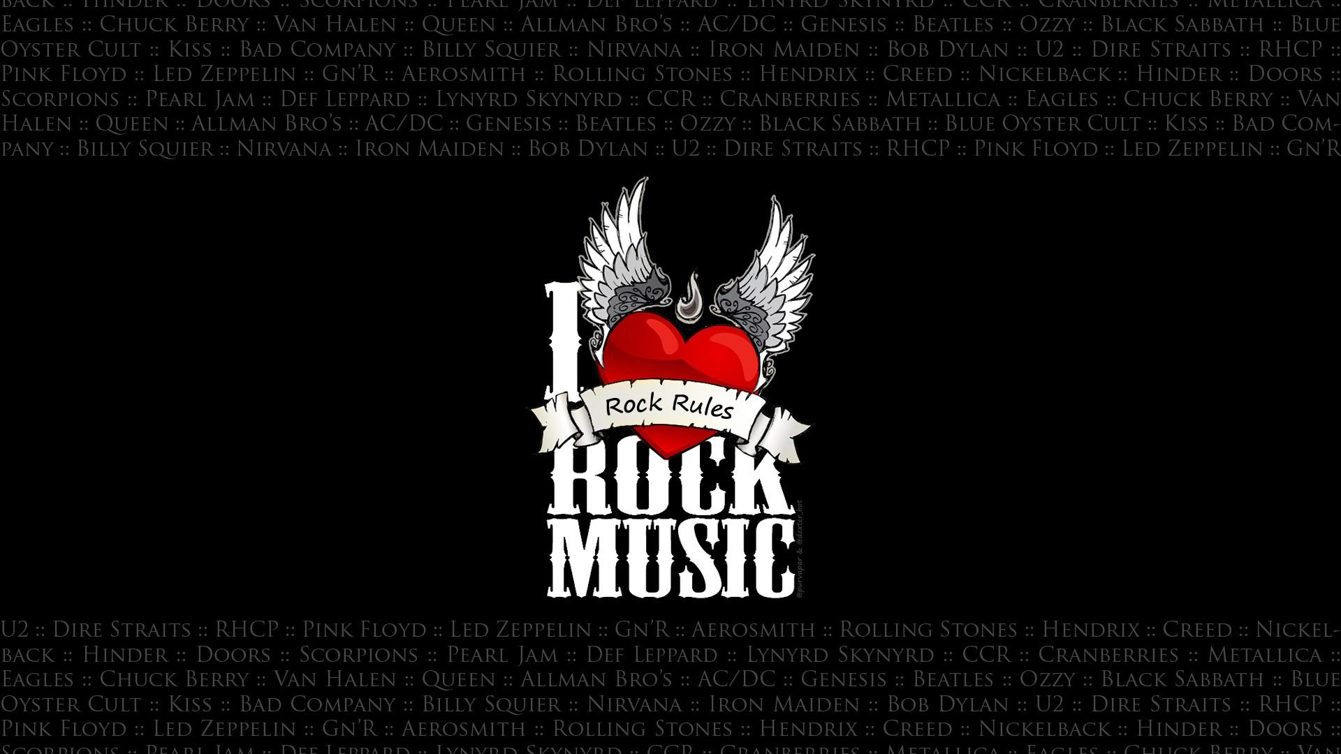 I Love Rock Music Full Hd Wallpaper For Desktop And Mobiles