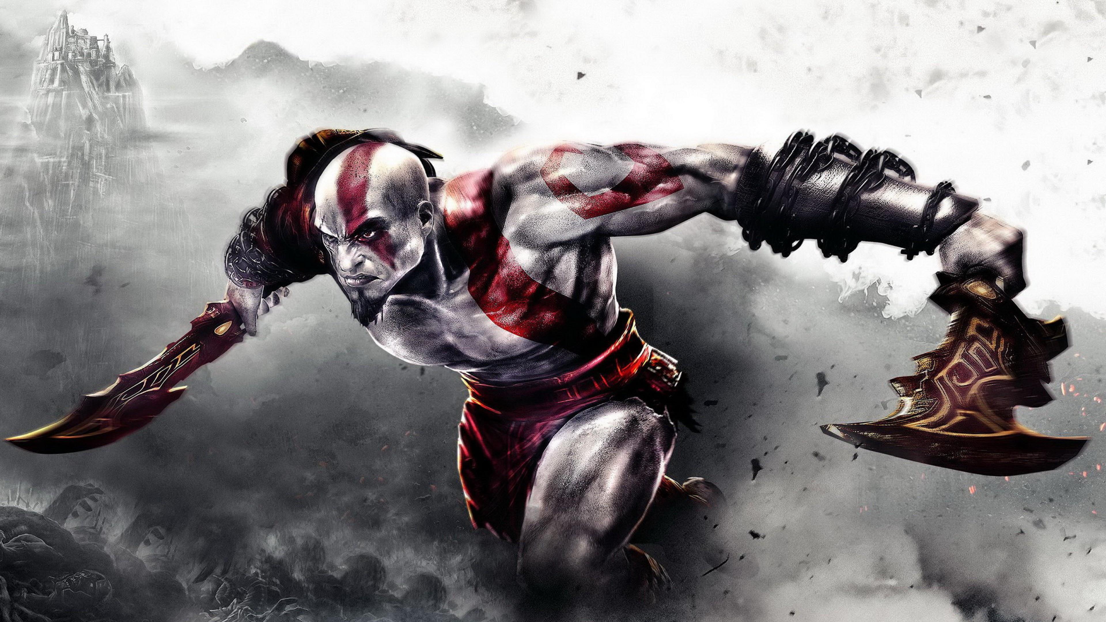 Kratos God Of War Hd Wallpaper For Desktop And Mobiles 4k
