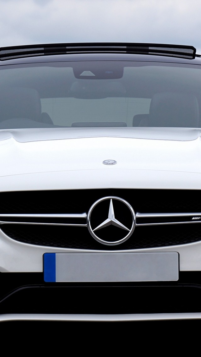 Mercedes C63 Amg Front View Hd Wallpaper Iphone 5 5s