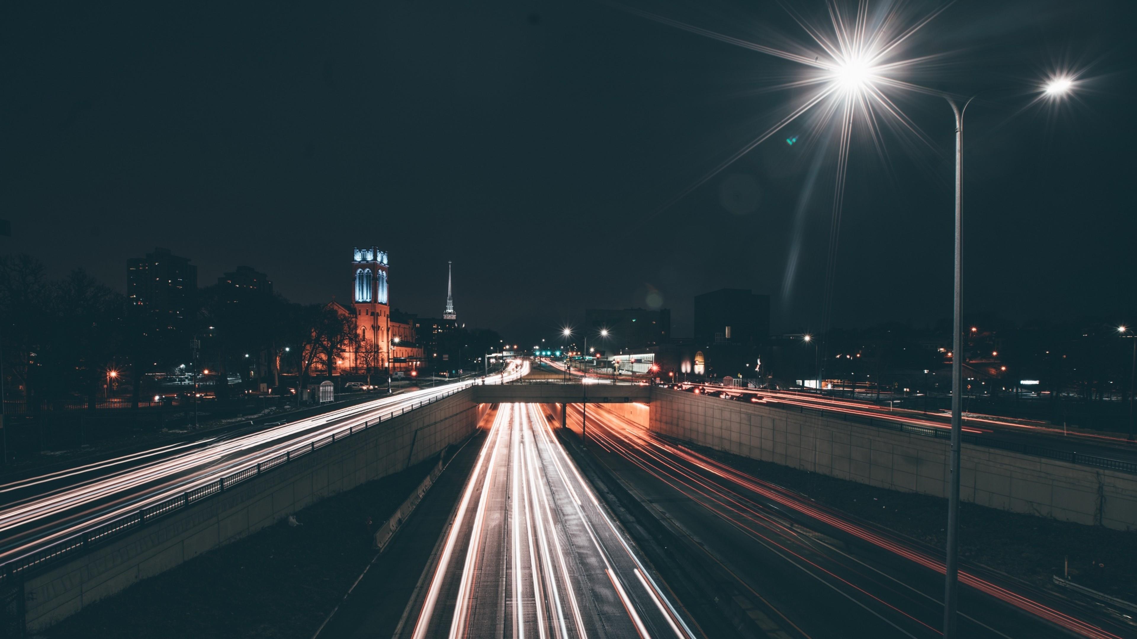 Minneapolis Night Lights Hd Wallpaper 4k Ultra Hd Hd