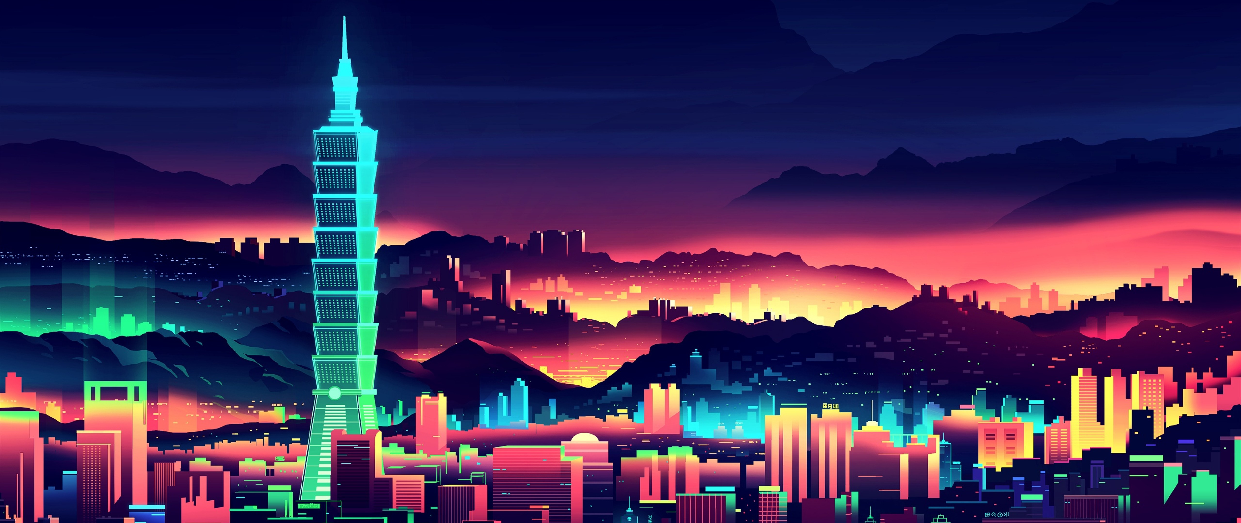 Neon City Wallpaper for Desktop and Mobiles 4K Ultra HD ...