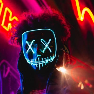 Neon Mask Hd Wallpaper Instagram Profile Picture Hd