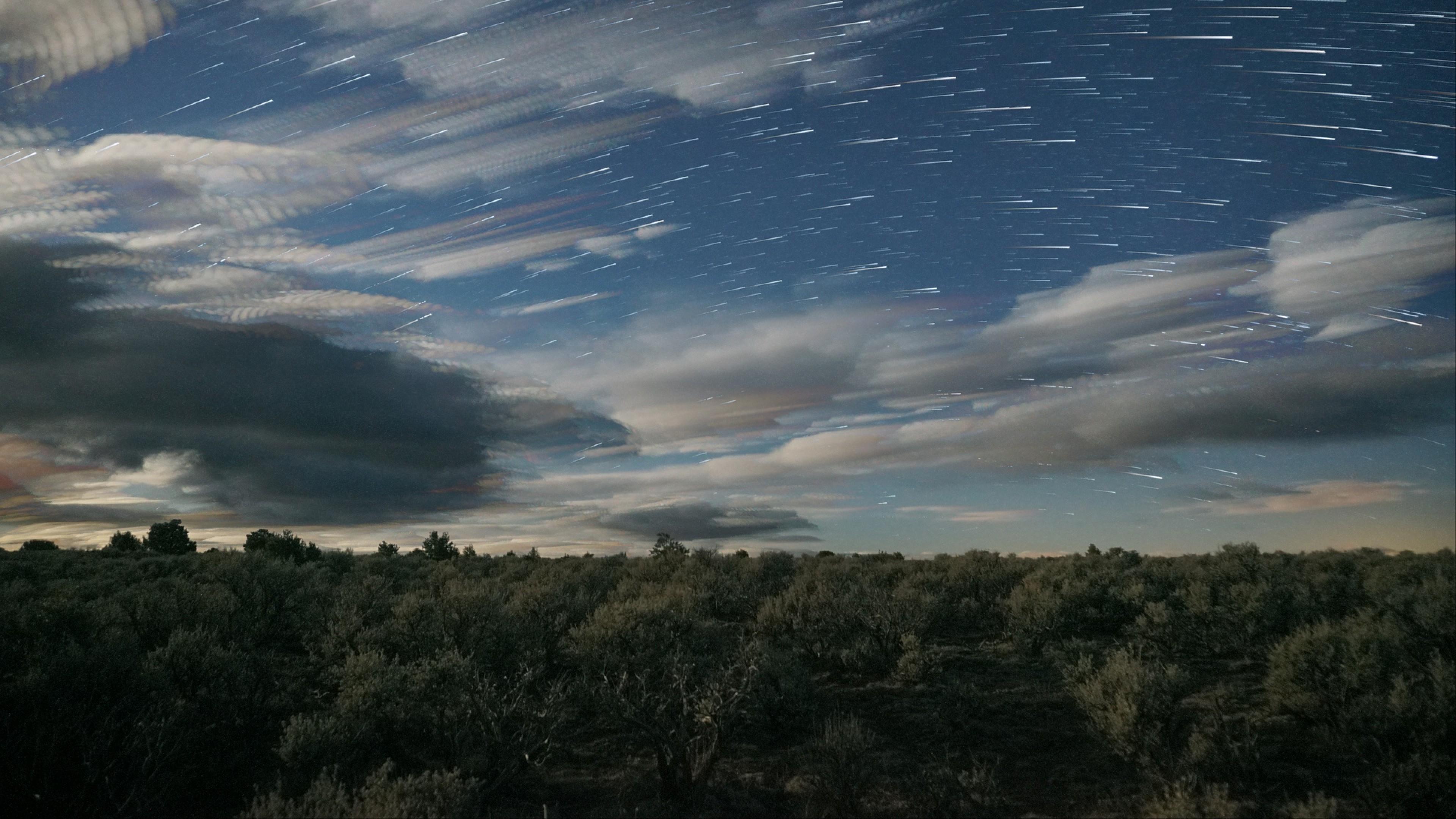 Night Sky With Stars Hd Wallpaper 4k Ultra Hd Hd Wallpaper