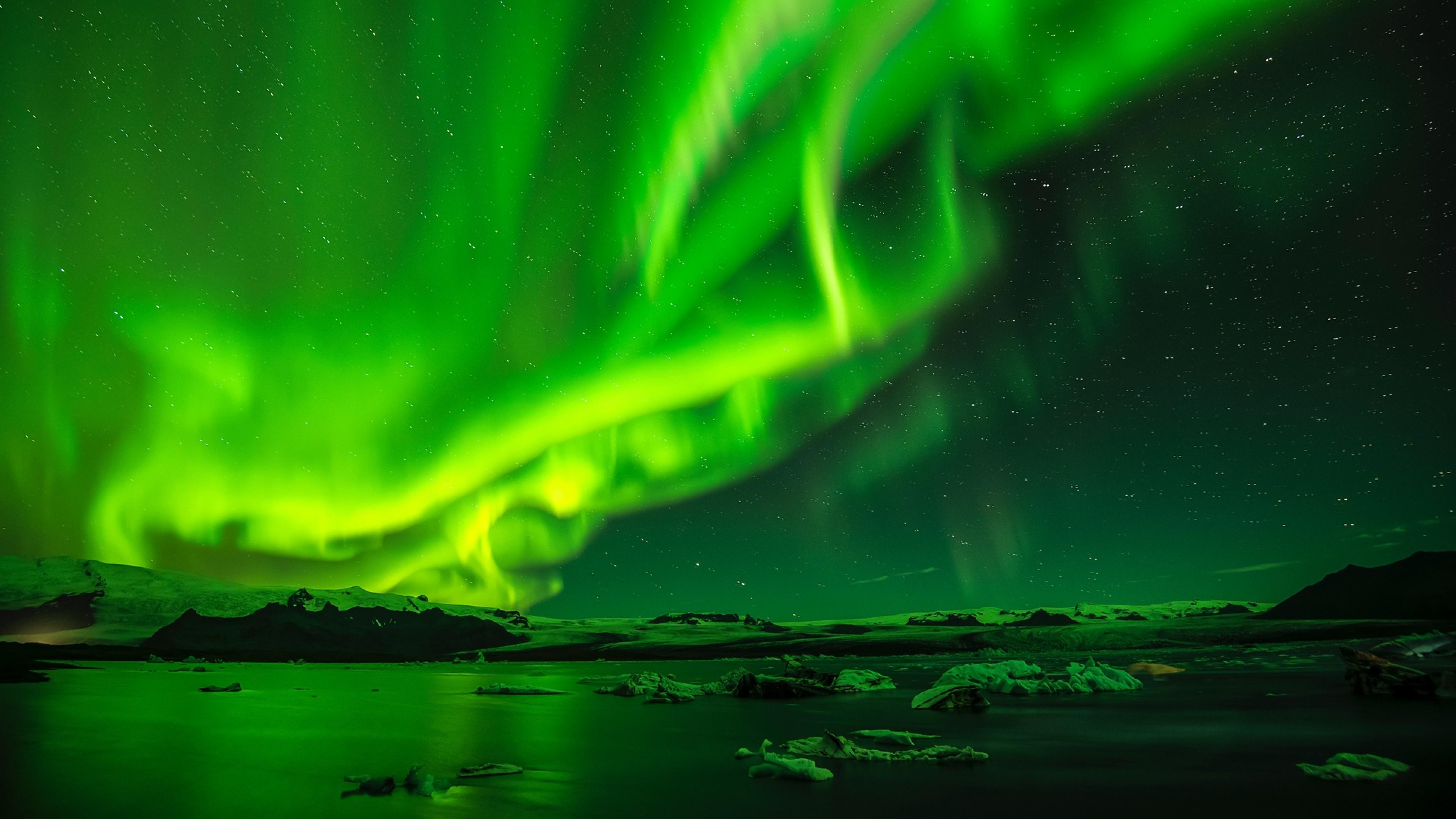 Northern lights HD Wallpaper 4K Ultra