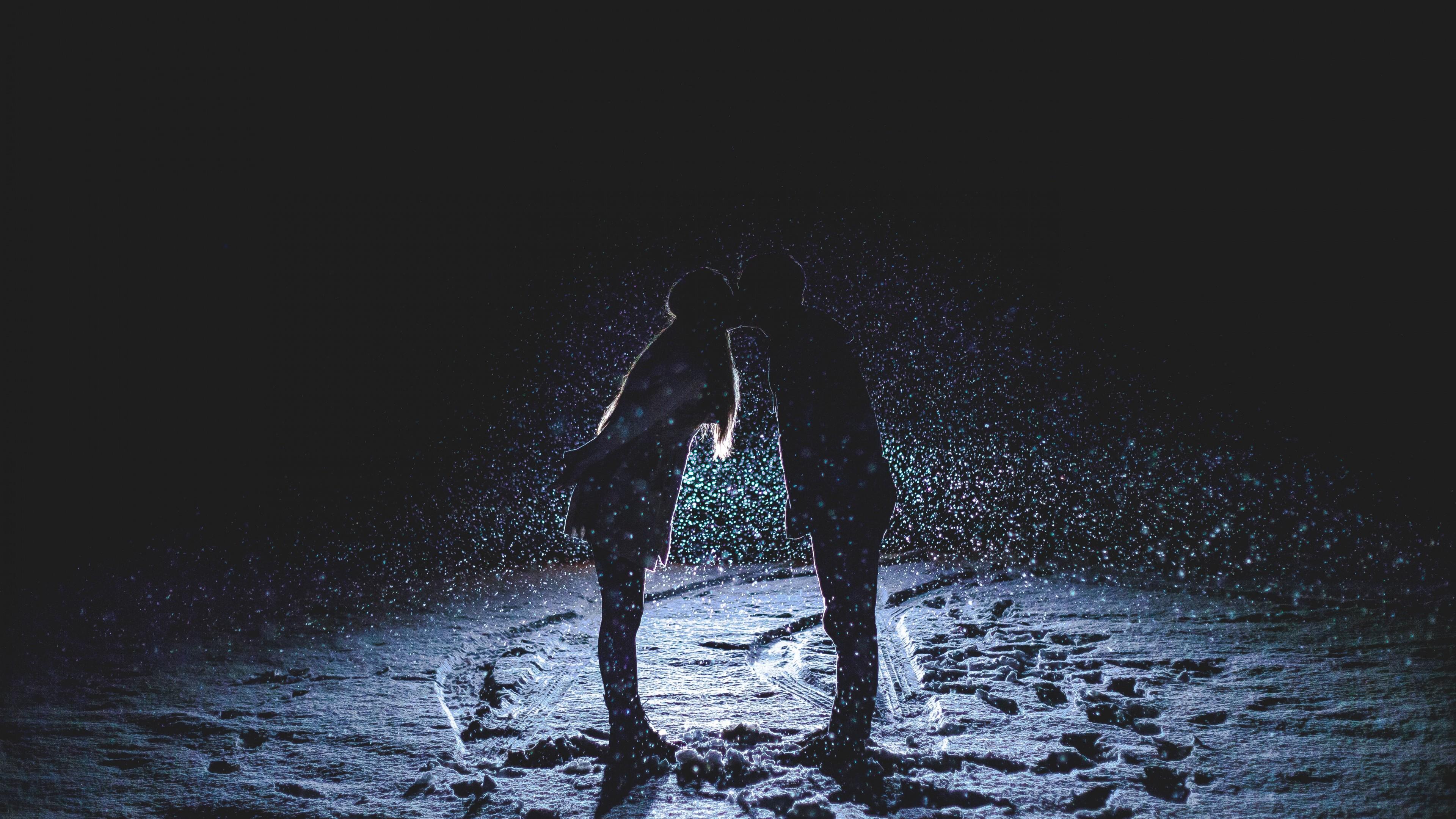 Romantic Love Couple Kissing Hd Wallpaper For Desktop And Mobiles 4k