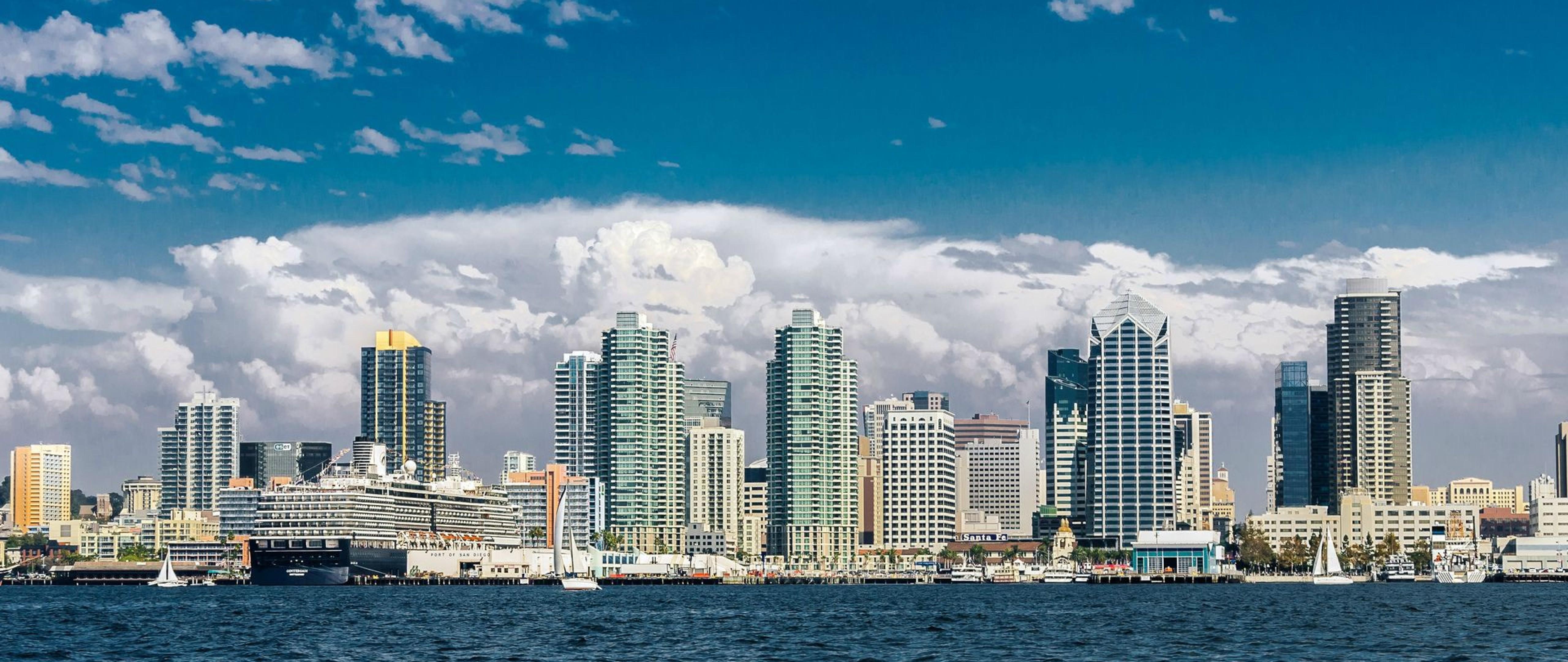 San Diego Skyline Hd Wallpaper 4k Ultra Hd Wide Tv Hd Wallpaper Wallpapers Net