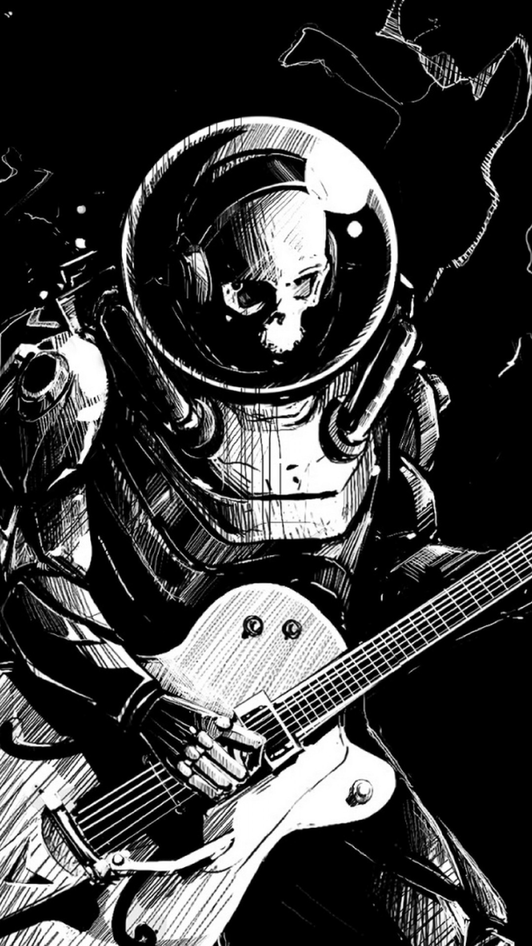 Skeleton Plays Guitar Hd Wallpaper Iphone 6 6s Plus Hd Wallpaper Wallpapers Net