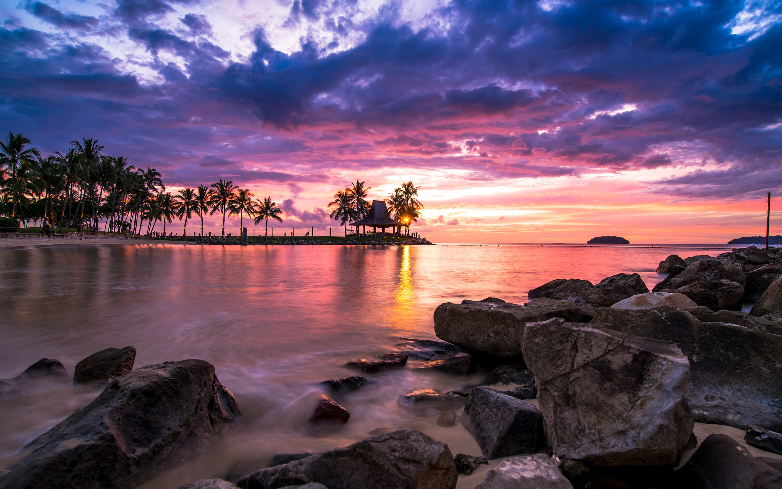 Sunset Beach Resort 13 Retina Macbook Pro Hd Wallpaper