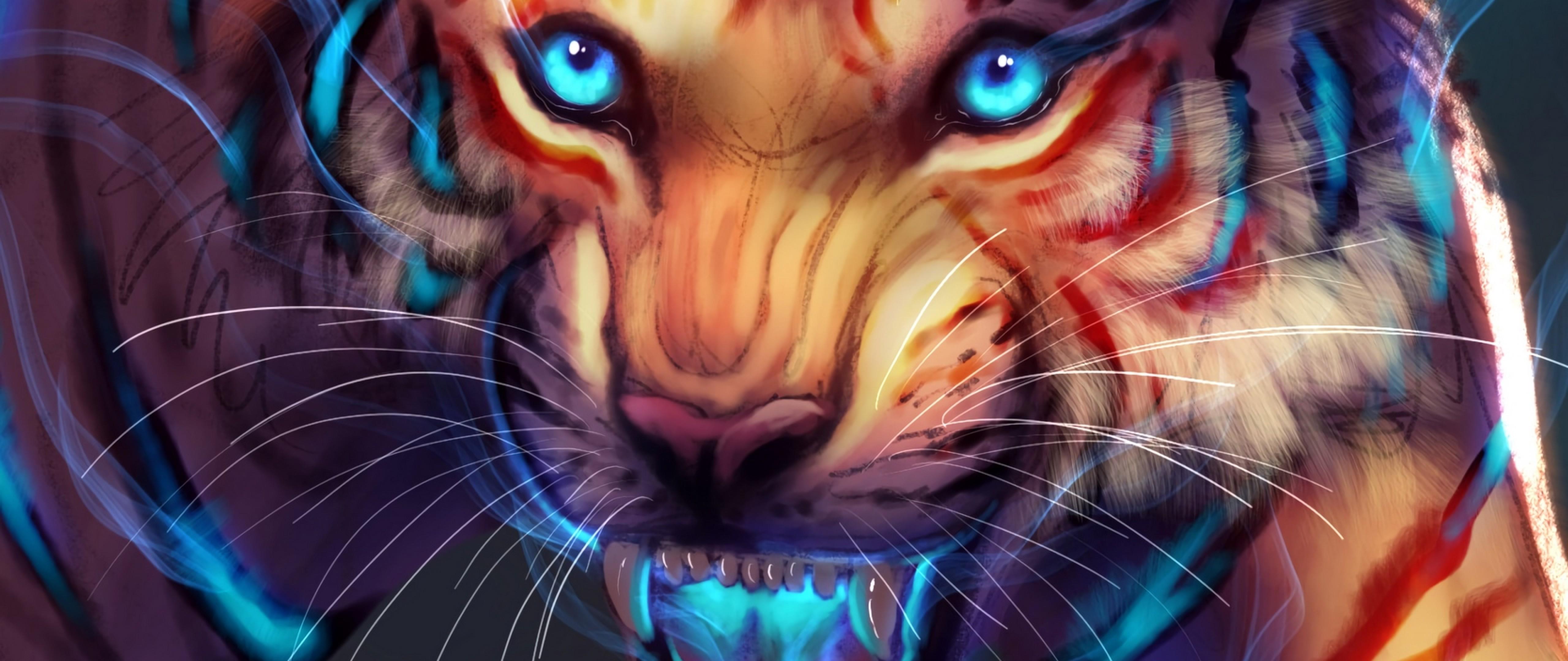 Tiger S Glowing Smile Hd Wallpaper 4k Ultra Hd Wide Tv Hd