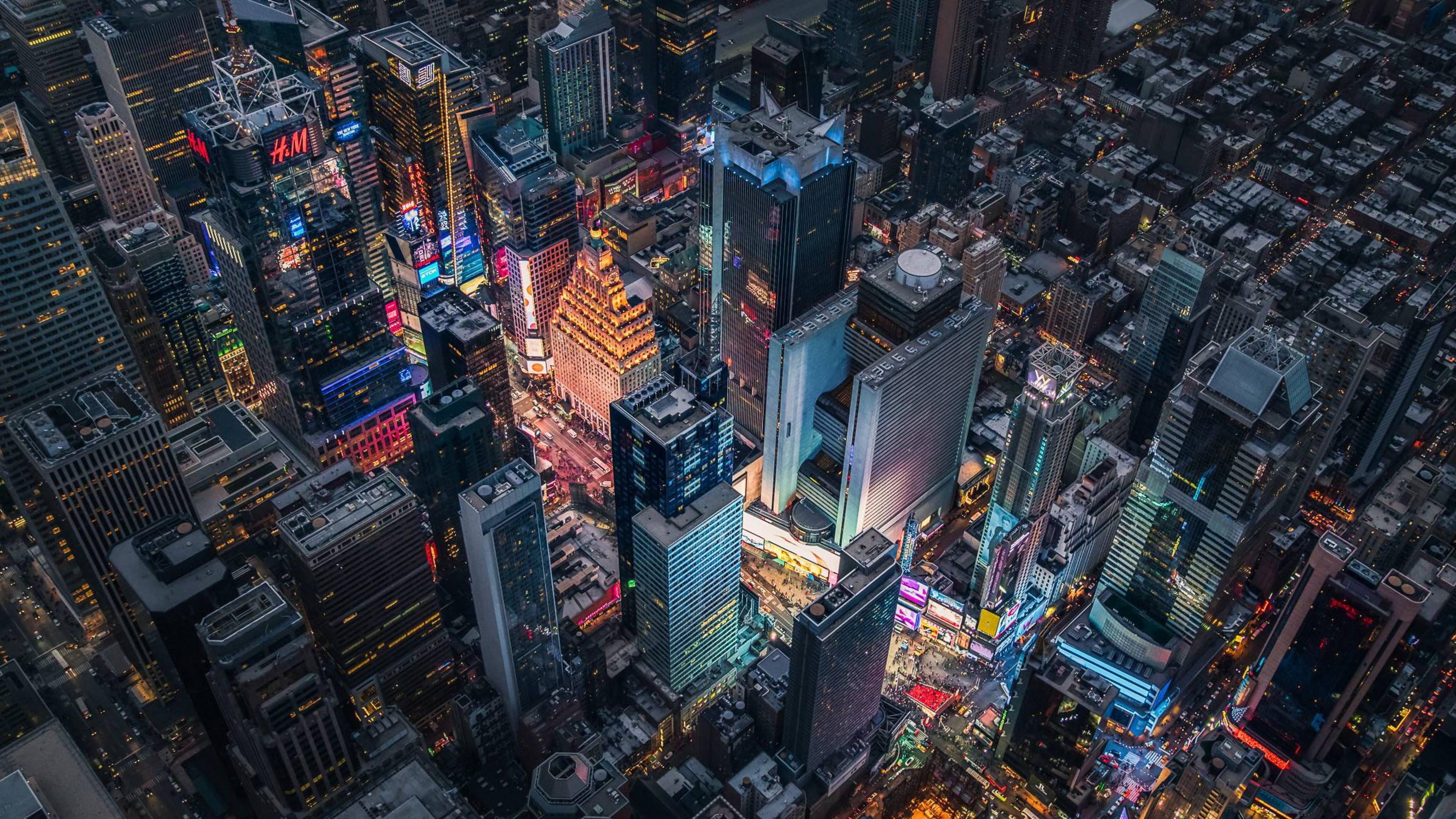 Times Square Birds Eye View Full Hd Wallpaper 4k Ultra Hd Hd Wallpaper Wallpapers Net