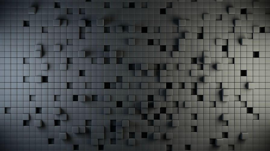 3D Abstract Grey Square Hd Wallpaper for Desktop and Mobiles