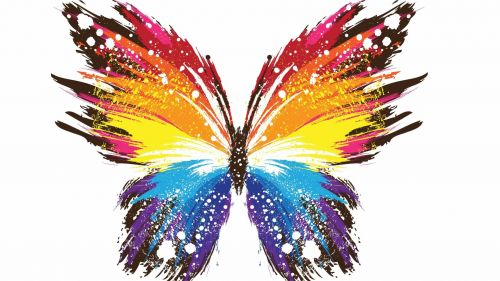 3D Abstract Free High Quality Colourful Butterfly Wallpaper for Desktop and Mobiles