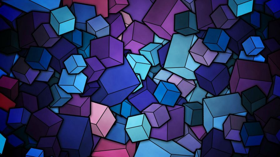 3D Cubes HD Wallpaper