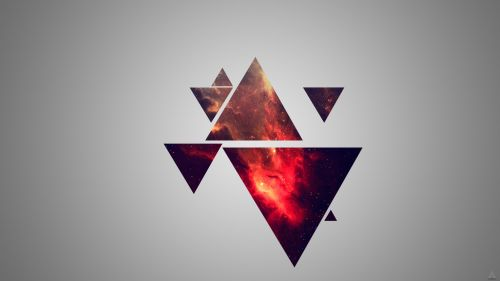 3D Triangle Abstract Design Wallpaper for Desktop and Mobiles