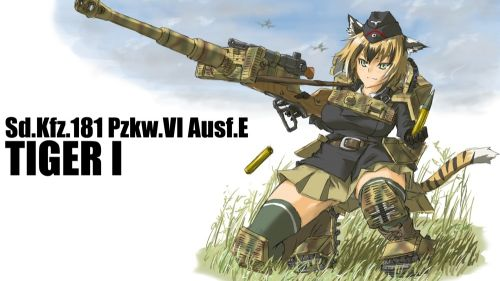 Anime girl repl icating WW2 HD Wallpaper
