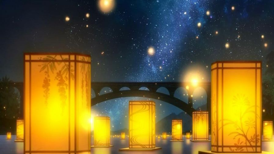 Anime Lanterns HD Wallpaper