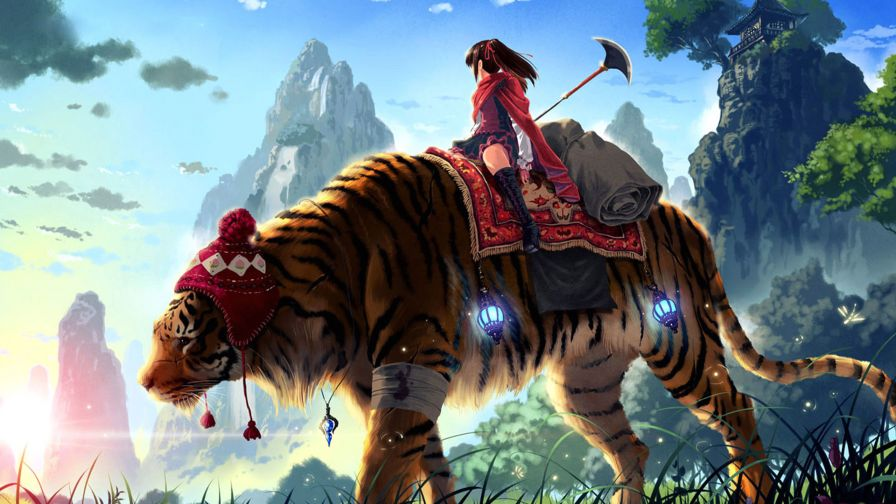 Anime Tiger Master Wallpaper for Desktop and Mobiles