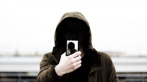 Anonymous taking a selfie HD Wallpaper