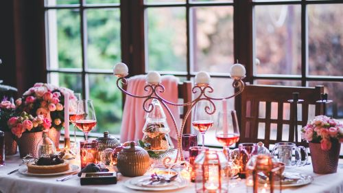 Beautiful Christmas Table Setting HD Wallpaper
