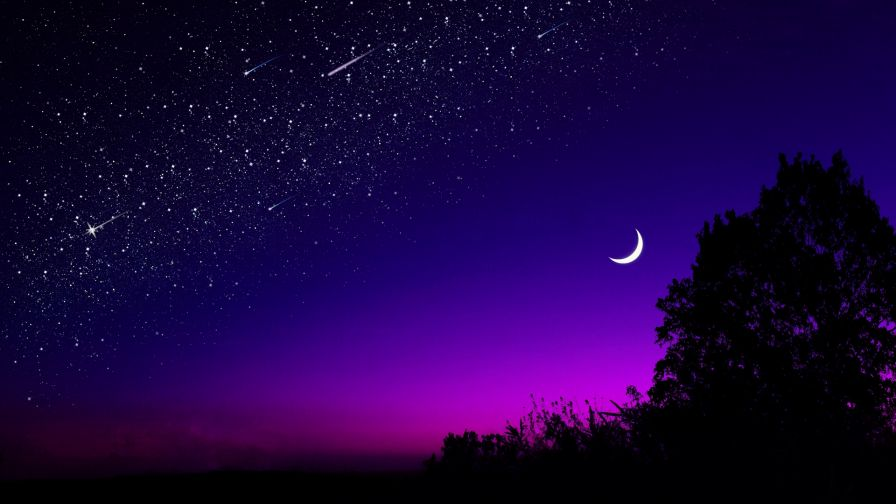 Beautiful night sky HD Wallpaper
