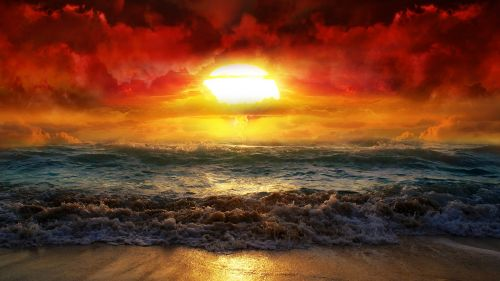 Beautiful Sunrise Beach HD Wallpaper