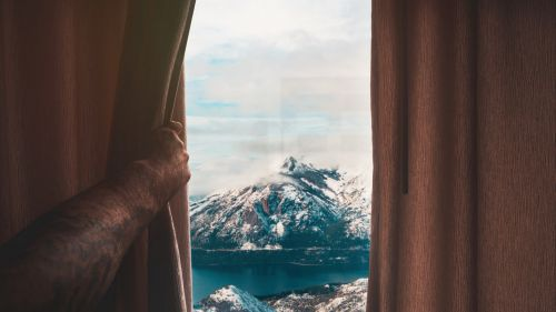 Beautiful view outside of the window HD Wallpaper