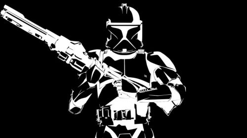 Black and White Star Wars HD Wallpaper