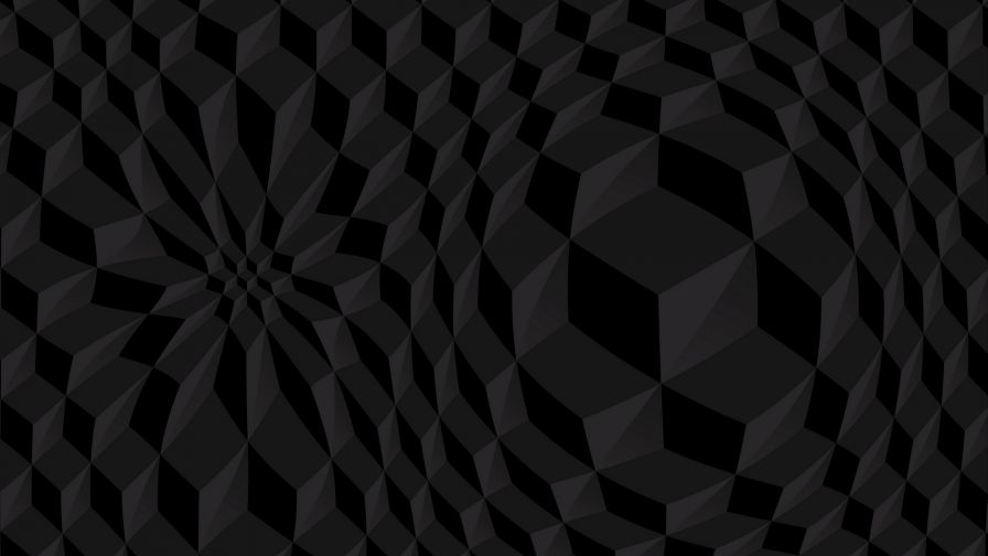 Black cubic structure HD Wallpaper