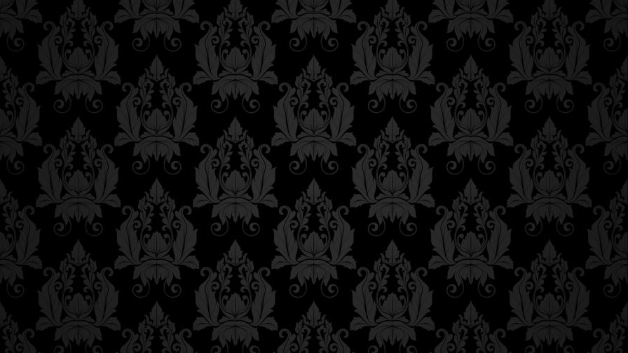 Black retro patterns HD Wallpaper