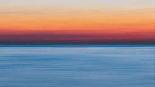 Blurry blue horizon HD Wallpaper