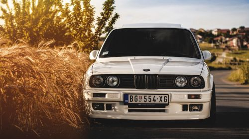 BMW 325 White HD Wallpaper