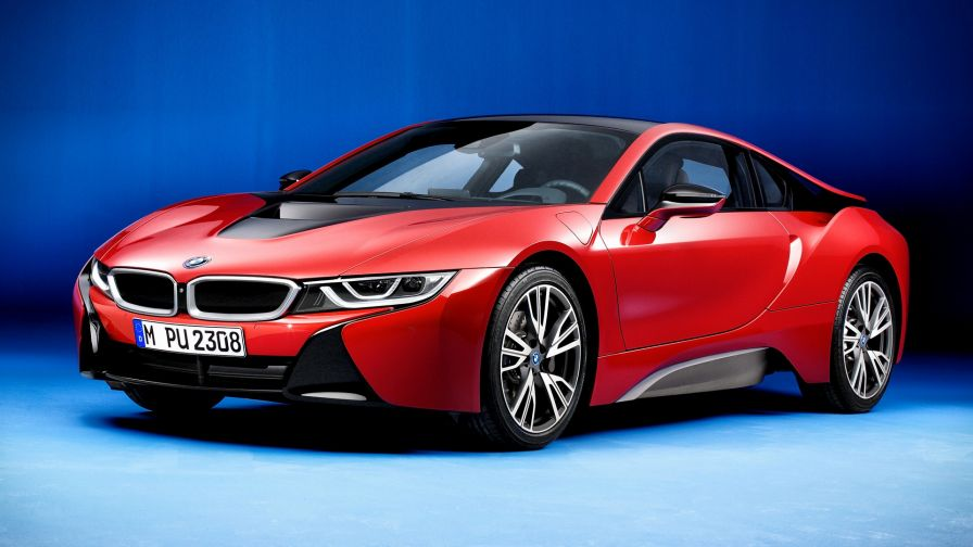 BMW i8 Protonic Red Edition HD Wallpaper