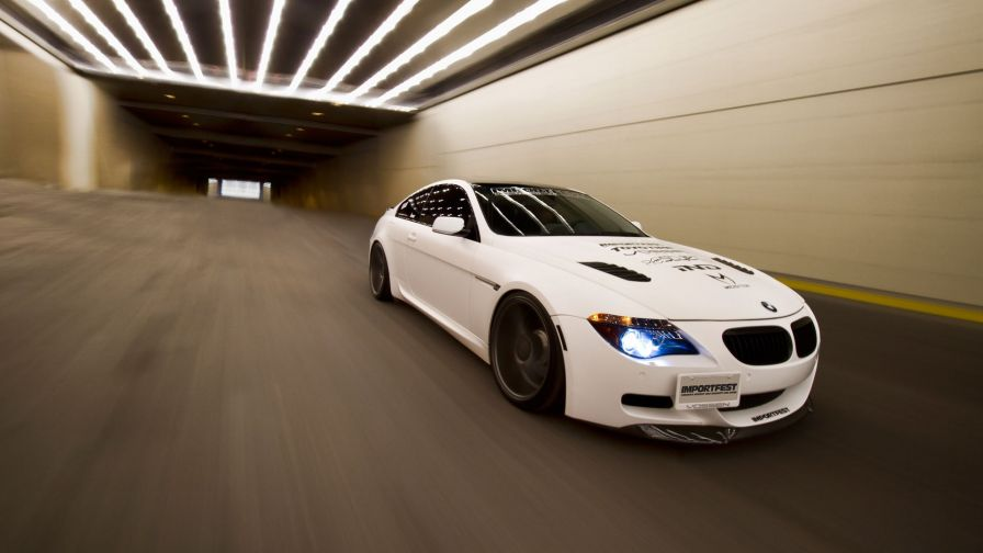 Bmw M6 tunnel tuning white HD Wallpaper - Wallpapers.net