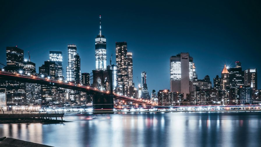 Brooklyn At Night Hd Wallpaper Wallpapersnet